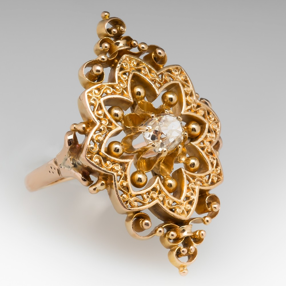 An ornate gold ring perfect for an African courtship gift