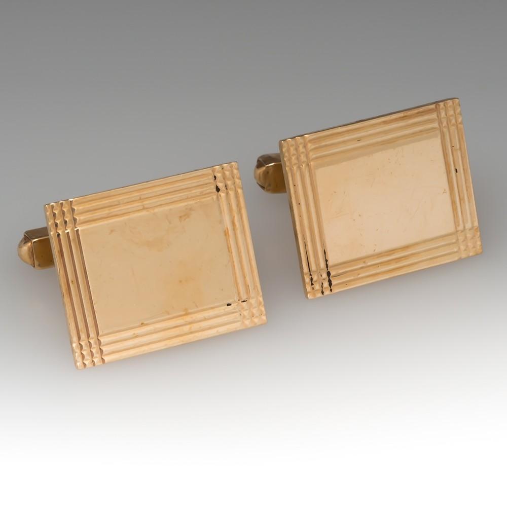 Men's Vintage 14k Gold Cufflinks