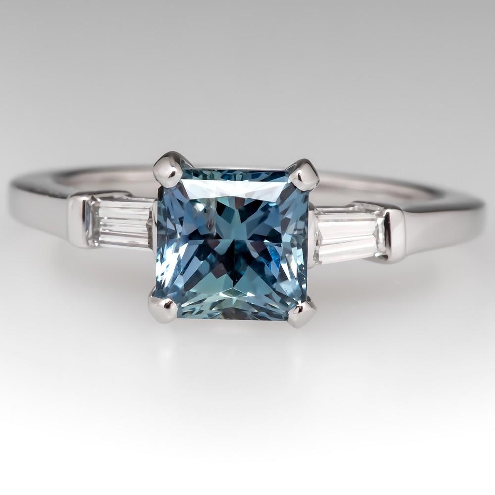 Natalie K 1.8 Carat No Heat Montana Sapphire Engagement Ring 14K