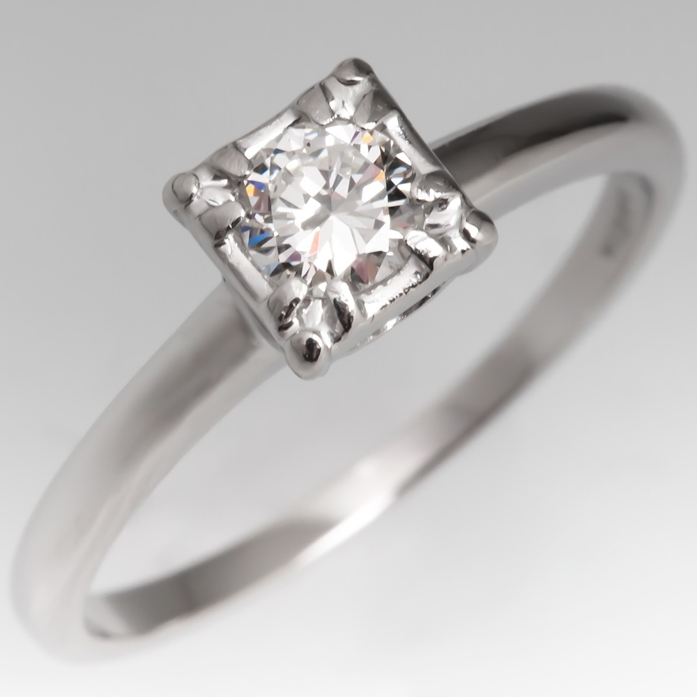 Jabel Vintage Diamond Engagement Ring Platinum .22CT G/VVS2
