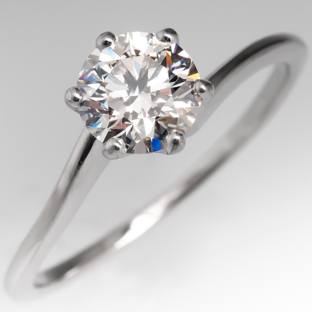 Hearts & Arrows AGS Ideal 1 Carat Diamond Solitaire Engagement Ring