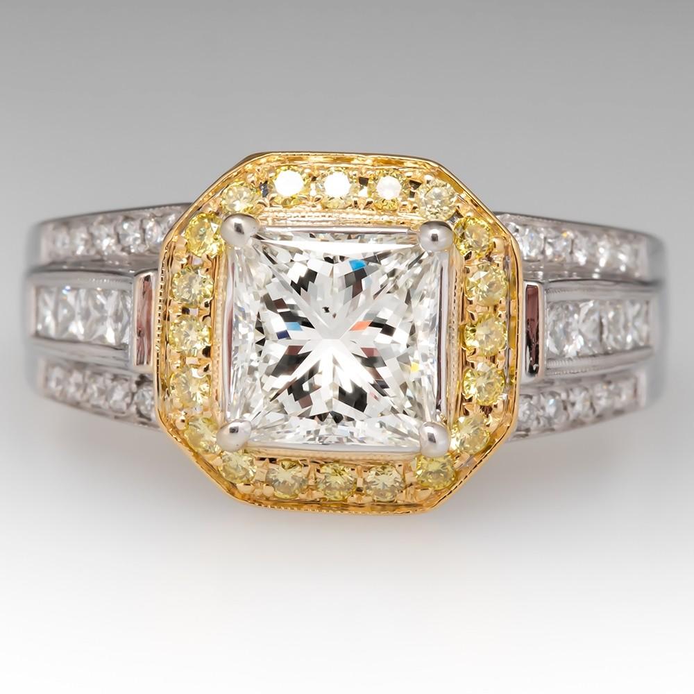 2 Carat Princess Cut Diamond Simon G Engagement Ring