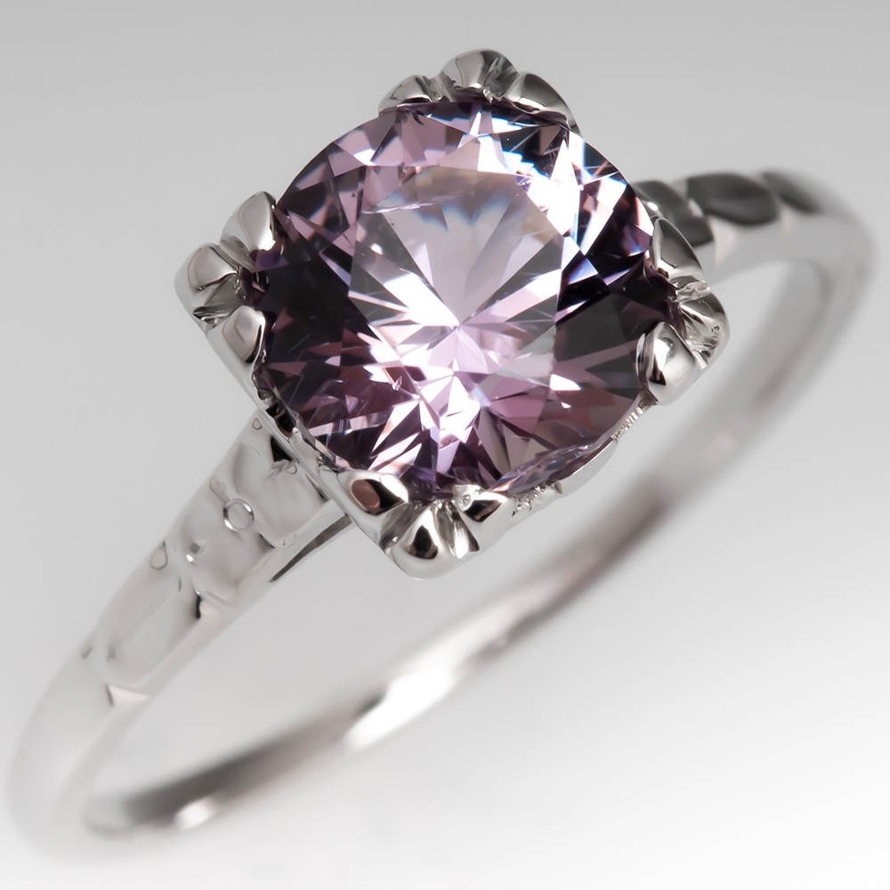 Untreated Pink to Blue Color Change Montana Sapphire Engagement Ring