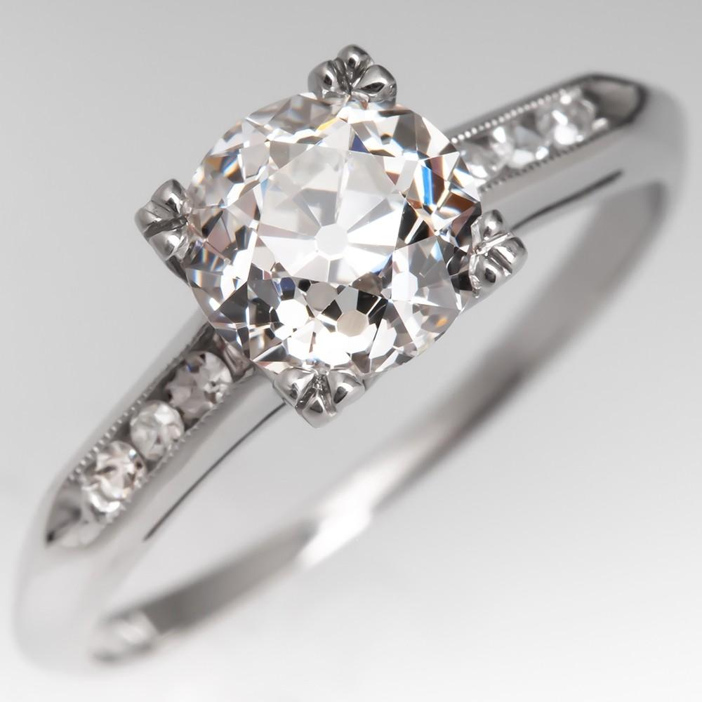 Heirloom Old European Cut Diamond Vintage Engagement Ring