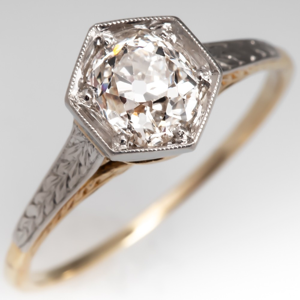 Victorian Era Circa 1900s Antique Diamond Engagement Ring