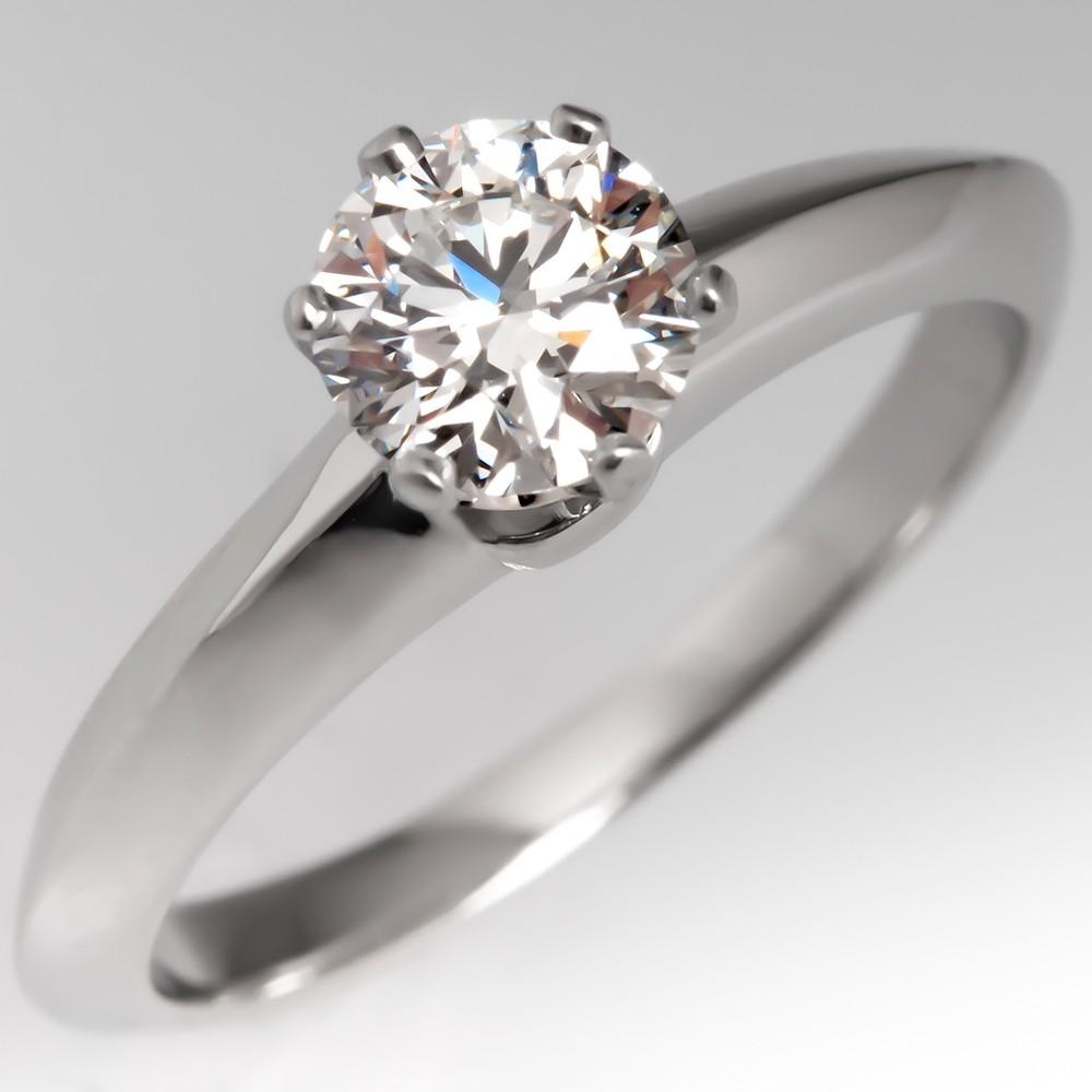1/2 Carat G/VS1 Round Brilliant Diamond Ring Tiffany & Co