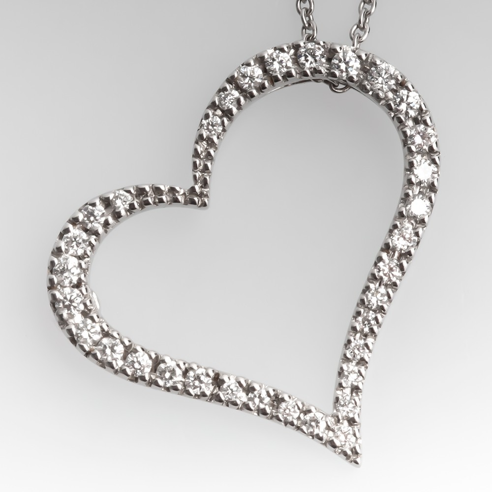 Roberto Coin Tiny Treasure Pendant Necklace 18K White Gold