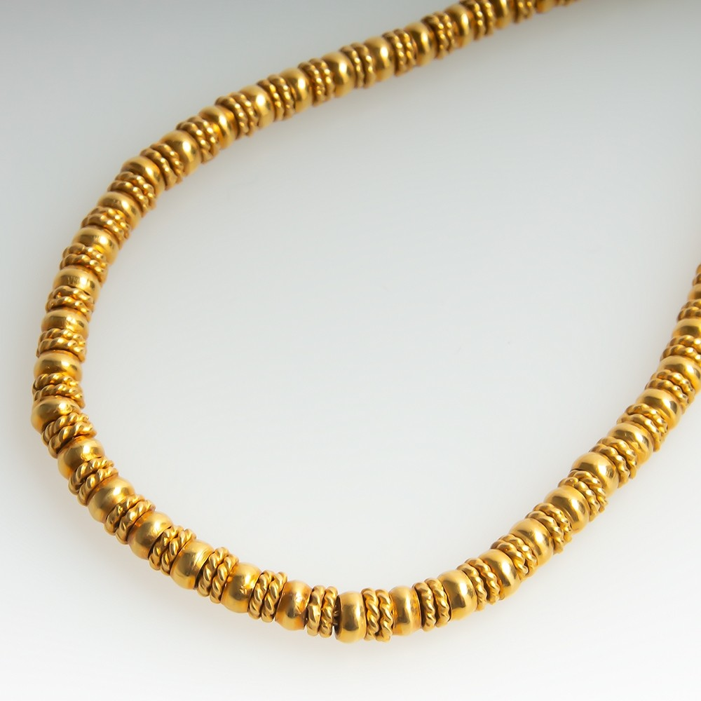 Ilias Lalaounis 18K Yellow Gold Necklace 18-Inch Substantial