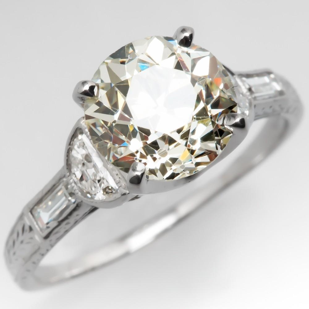 2 Carat Old European Cut Diamond Rings