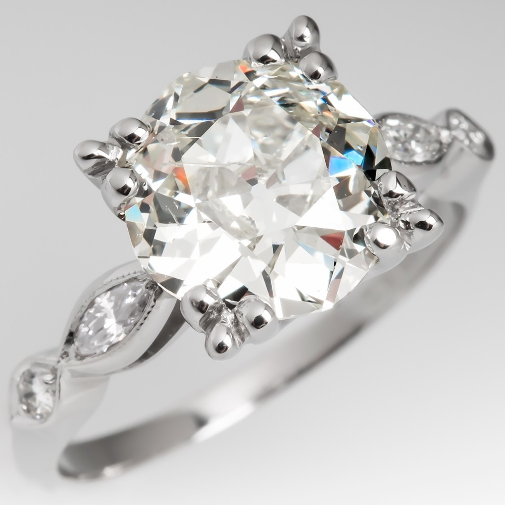 3 Carat Old Mine Cut Diamond Rings