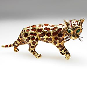 Tiffany & Co Big Cat Brooch Pin