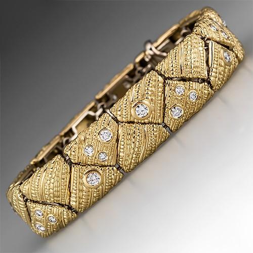 Alex Sepkus Crinkled Silk Bracelet