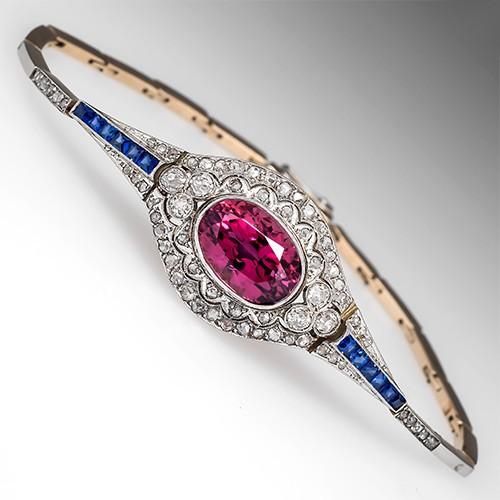 Victorian Tourmaline & Diamond Bracelet