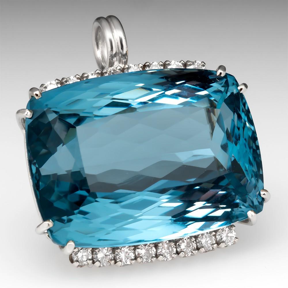 90 Carat Blue Topaz Pendant