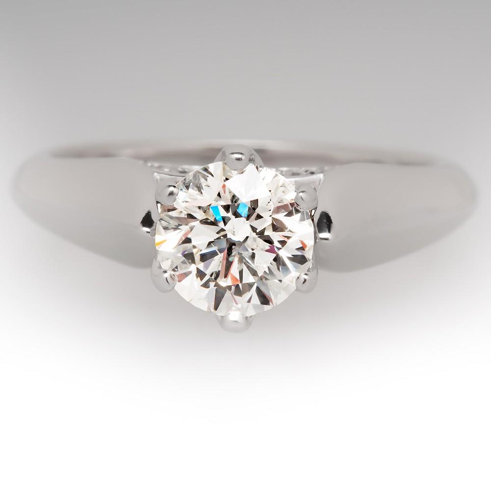1 Carat Canadian Goose Diamond Solitaire Ring 14K