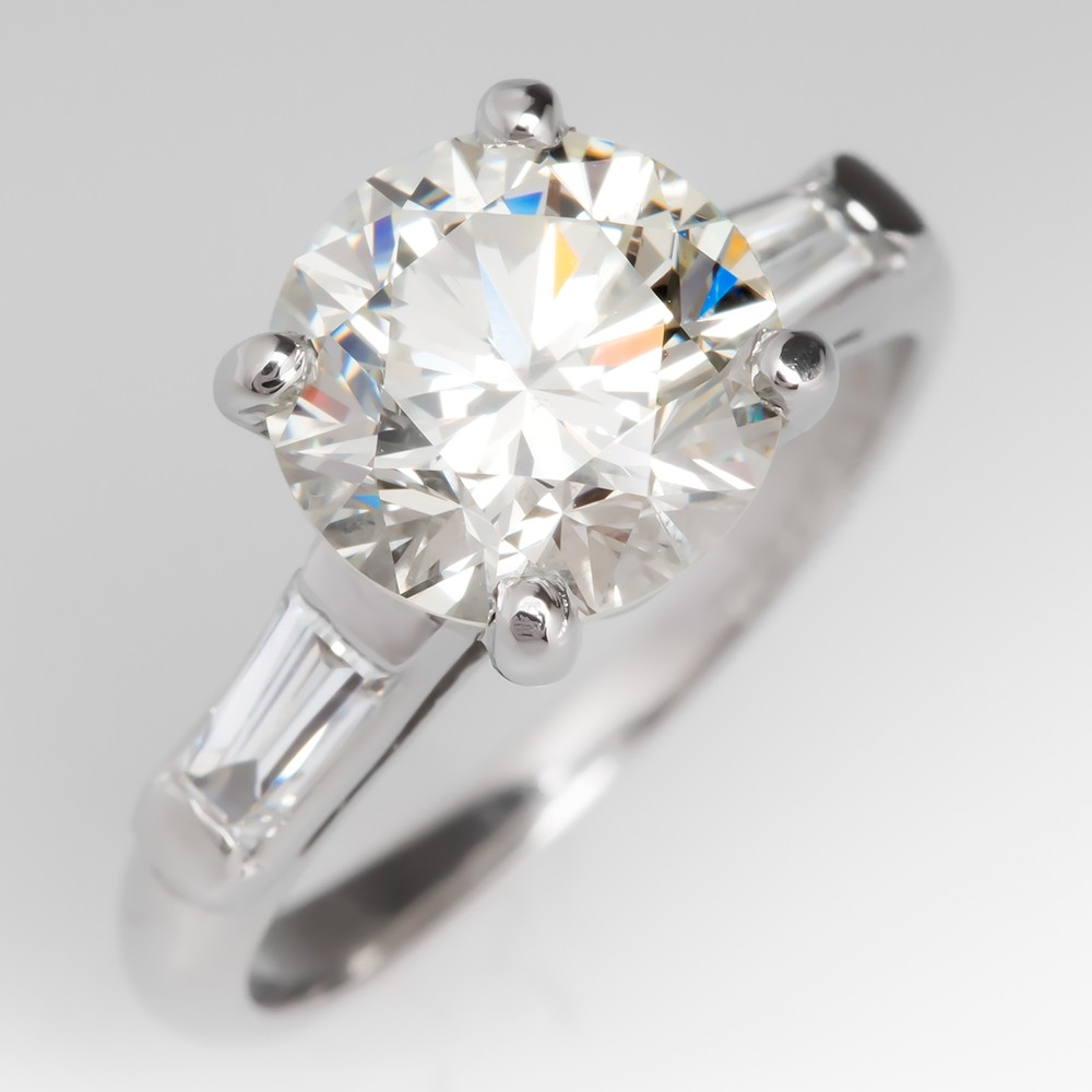 2 Carat Diamond Vintage Engagement Ring