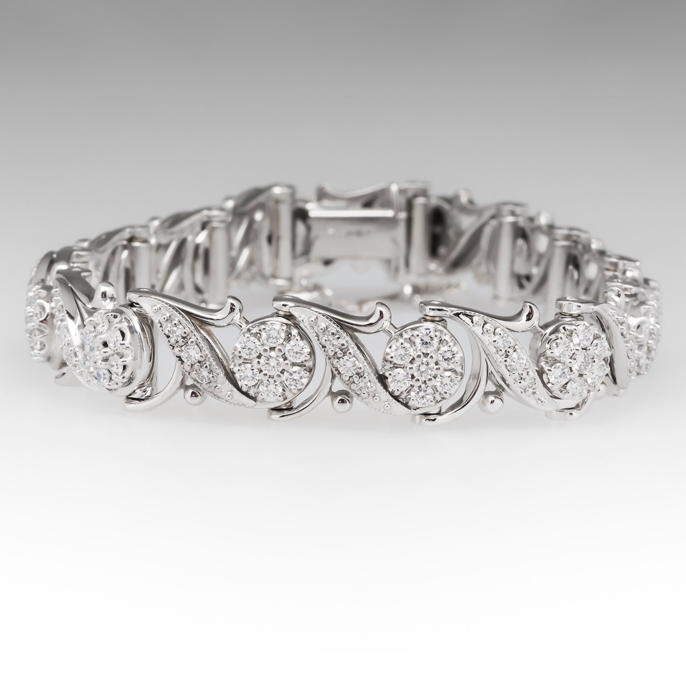 Jabel Vintage Diamond Bracelet 18K White Gold
