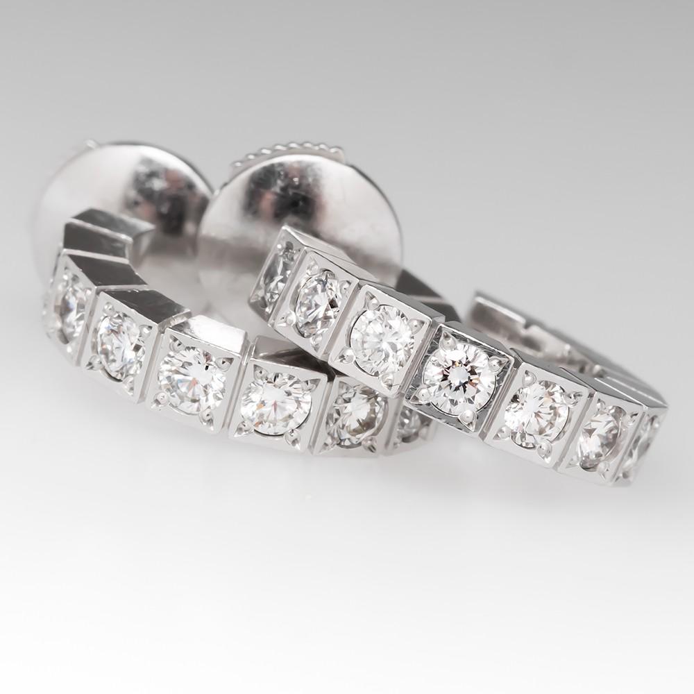 Cartier Lanières Earrings Diamond Hoops 18K