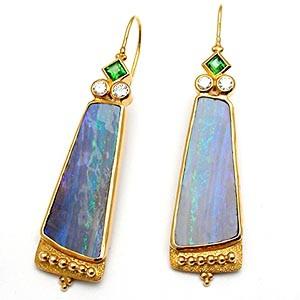 Paula Crevoshay Opal Split Earrings
