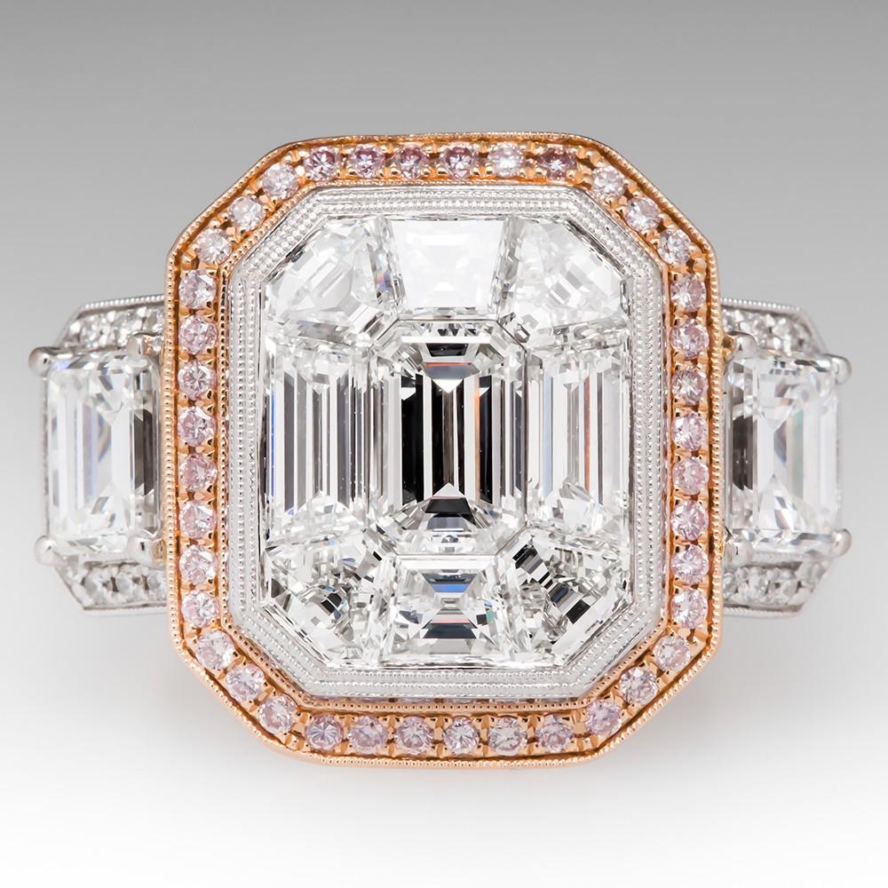 Simon G Mosaic Collection Diamond Engagement Ring 18K