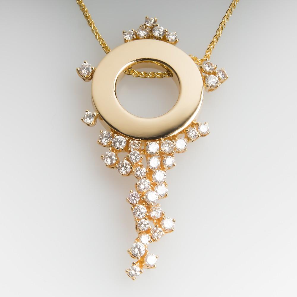 Roberta Porrati 20-Inch Diamond Necklace 18K