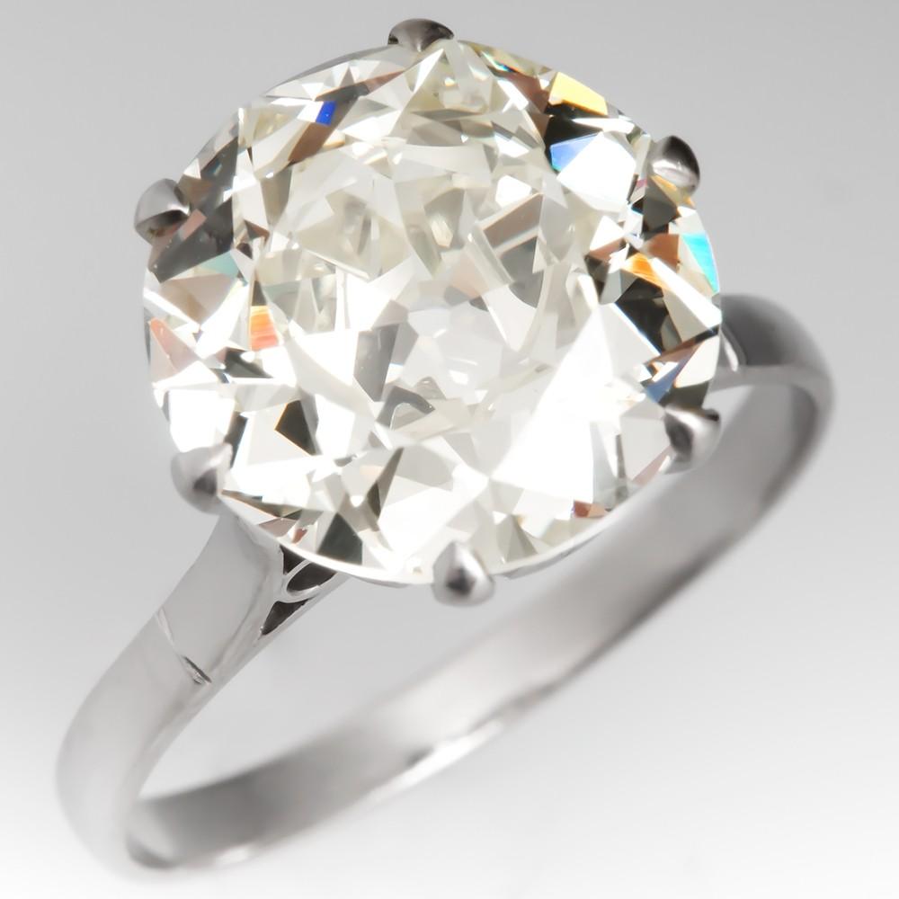 Victorian Old Euro Cut Diamond Ring