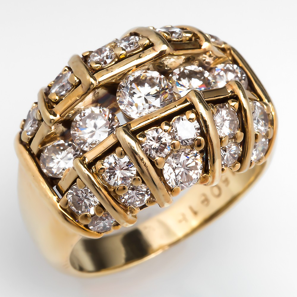Diamond Wide Band Cocktail Ring