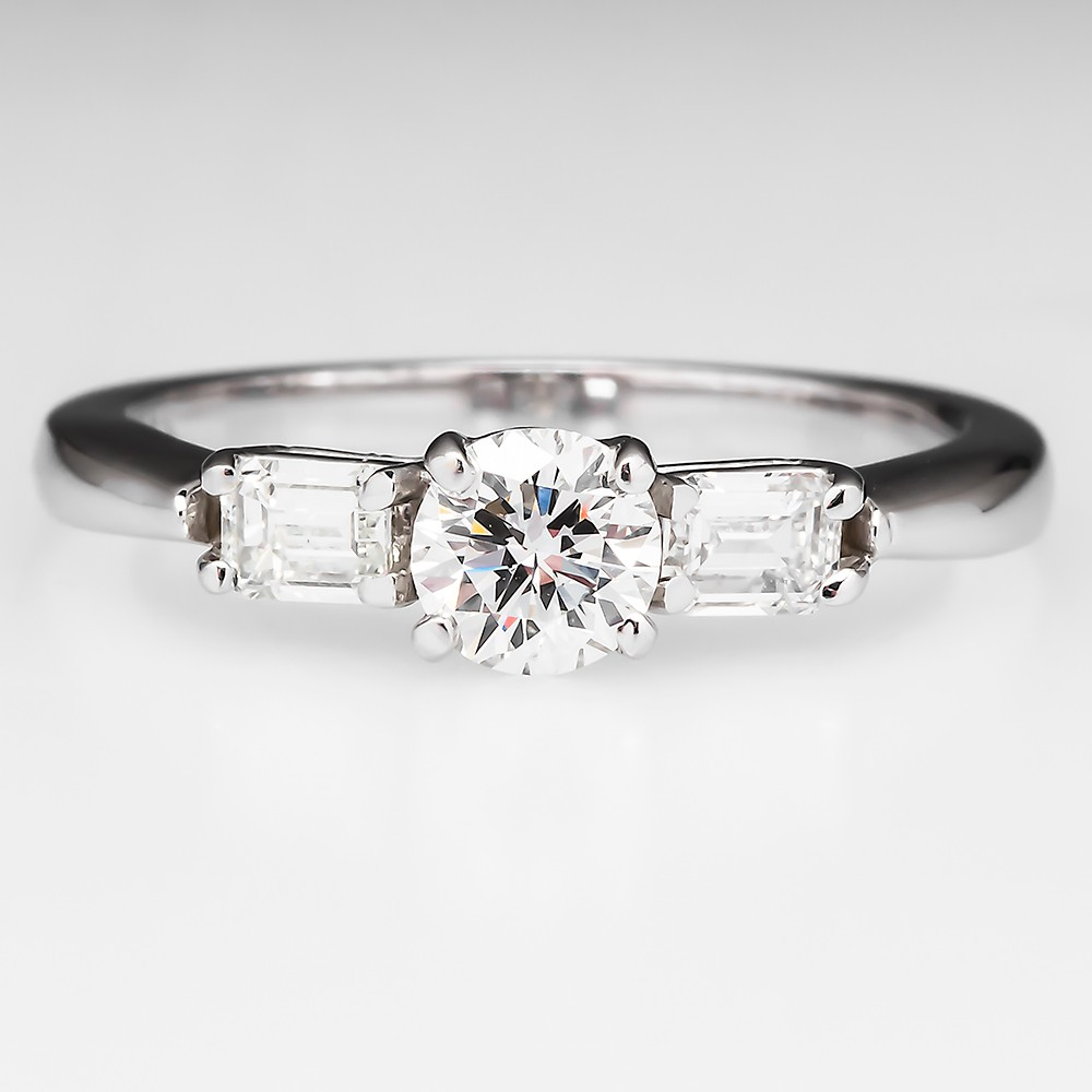 F VVS Diamond Engagement Ring