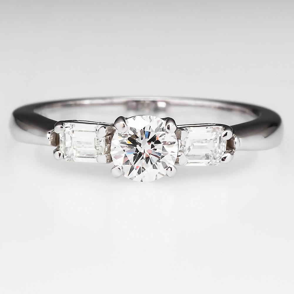 F VVS Diamond Engagement Ring