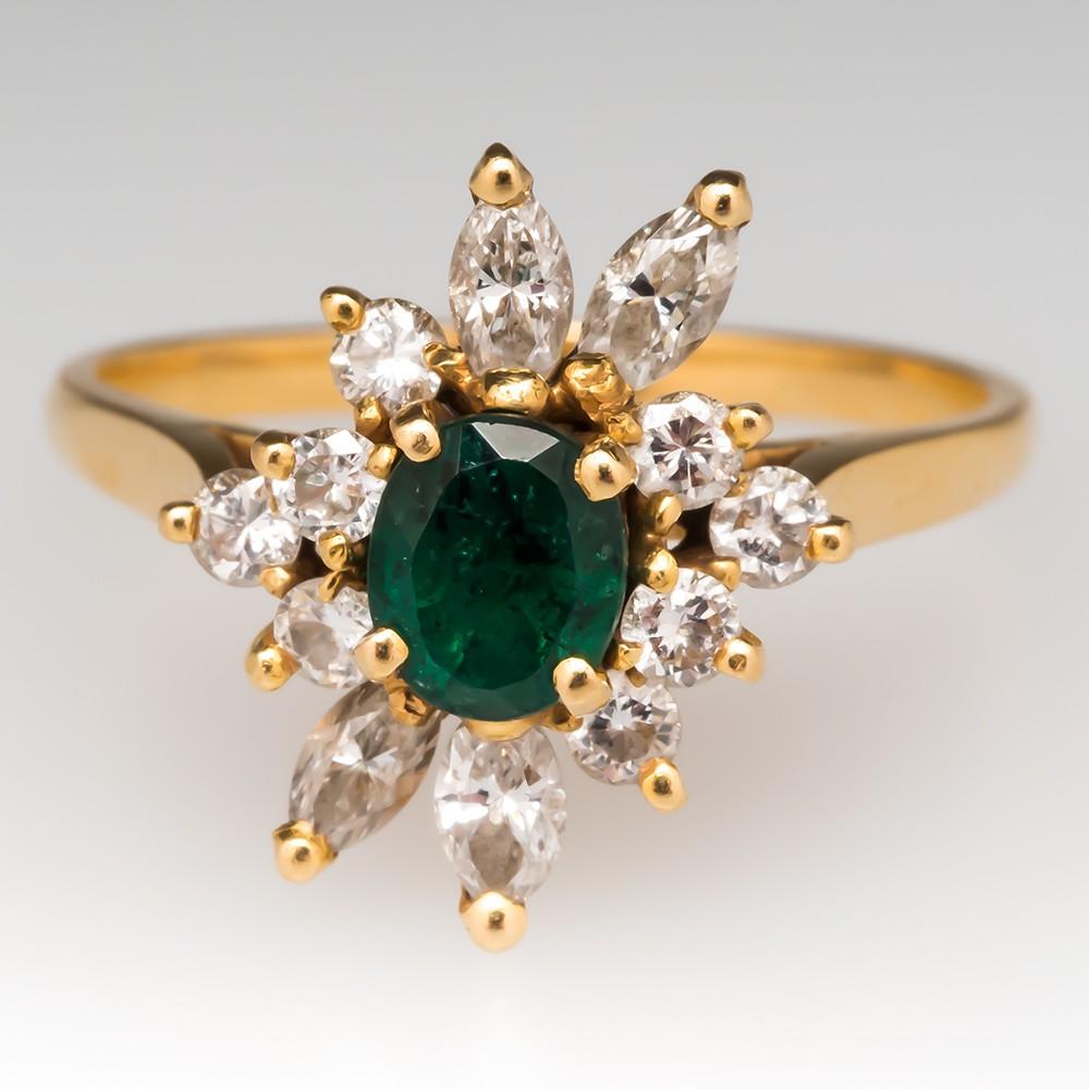 Emerald Spray Ring