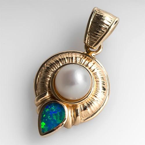 Pearl & Opal Pendant