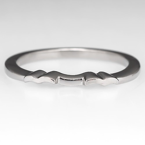 Molded Wedding Ring Guard Platinum