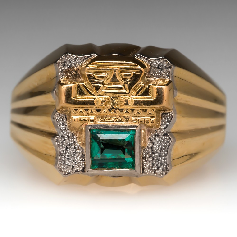 Mens Aztec Ring