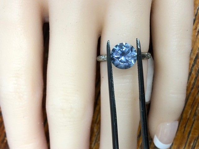 2.85 Carat Montana Sapphire Solitaire Ring 2 of 2