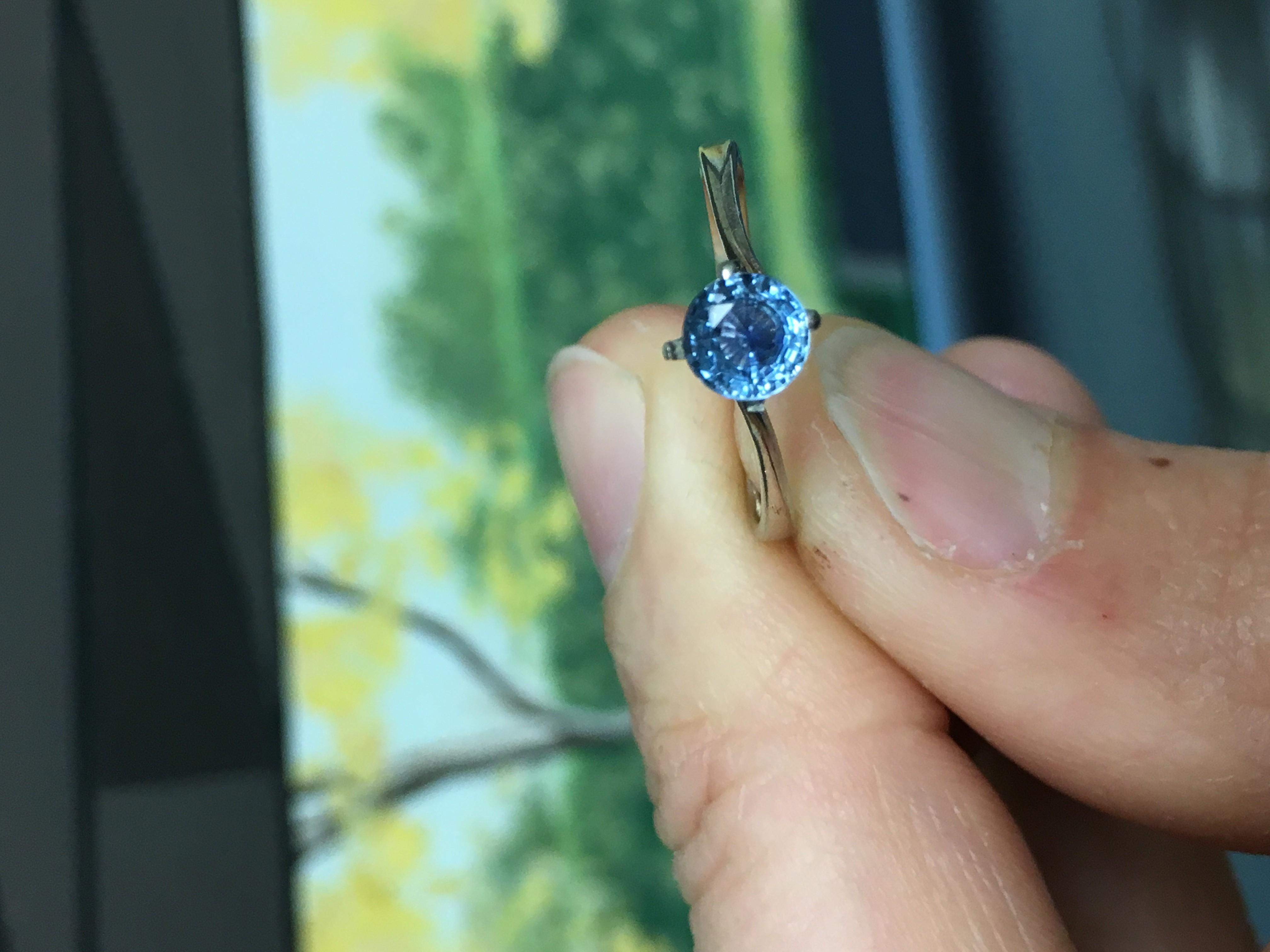 .75 Carat Montana Sapphire Ring 14K Gold