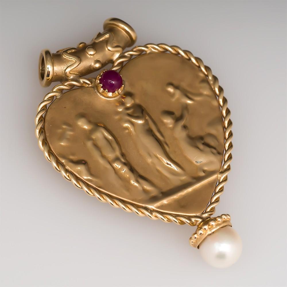 Italian Heart Pendant
