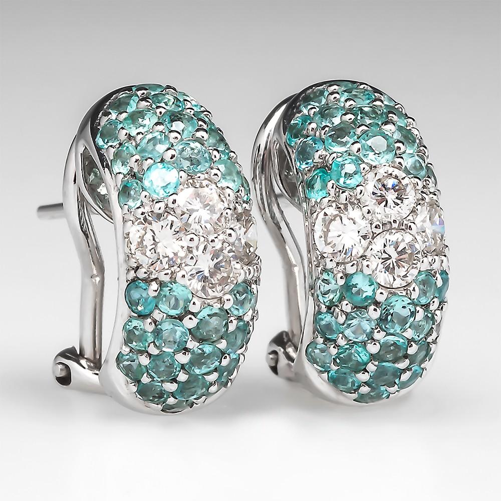 Judy Mayfield Paraíba Tourmaline Huggie Earrings