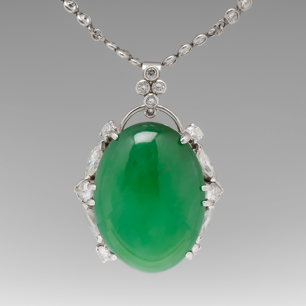 Estate and vintage necklaces and pendants eragem jade necklace mozeypictures Image collections