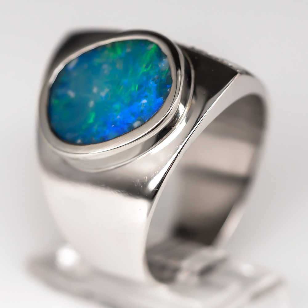 Black Opal Cocktail Ring