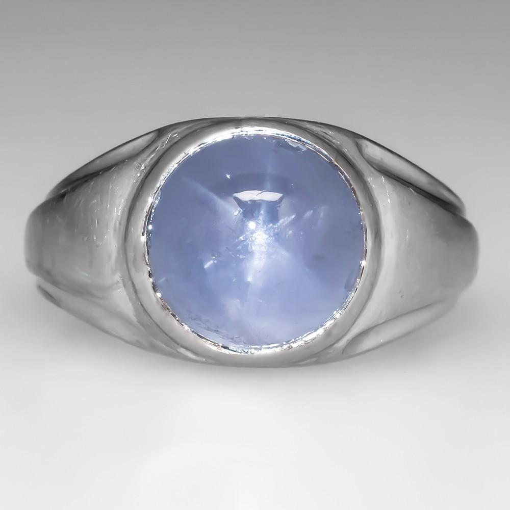 Mens Star Sapphire Rings