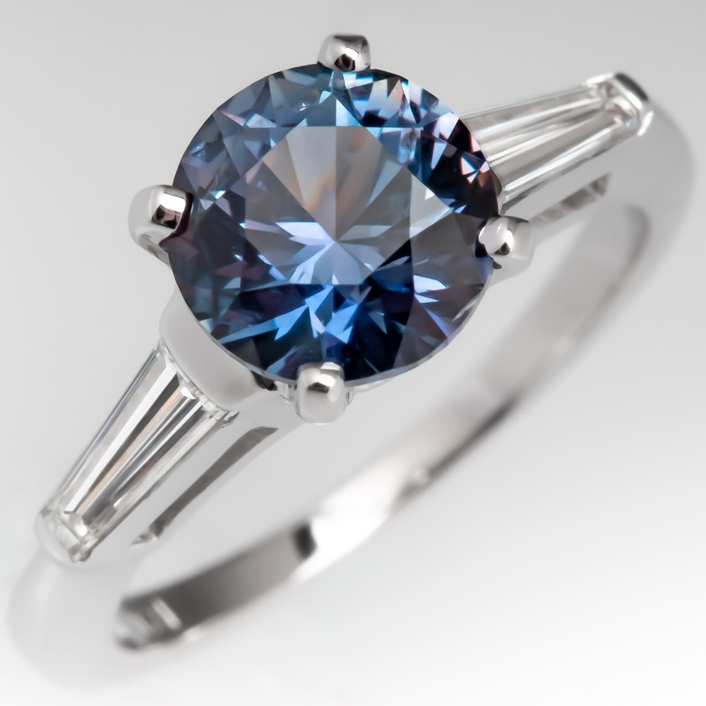 Color Change Montana Sapphire Engagement Ring Natural