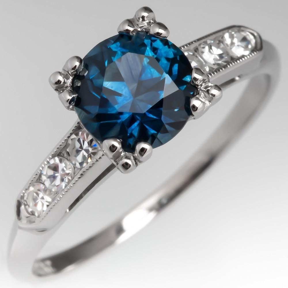 Montana Sapphire Engagement Rings Vintage