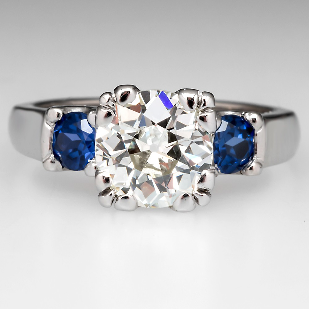 Old Euro Cut Diamond Rings EraGem