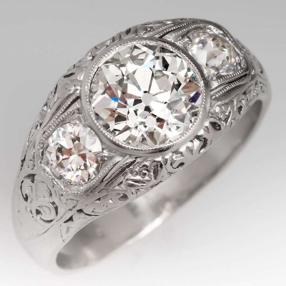 Old European Cut Diamond Ring 1910