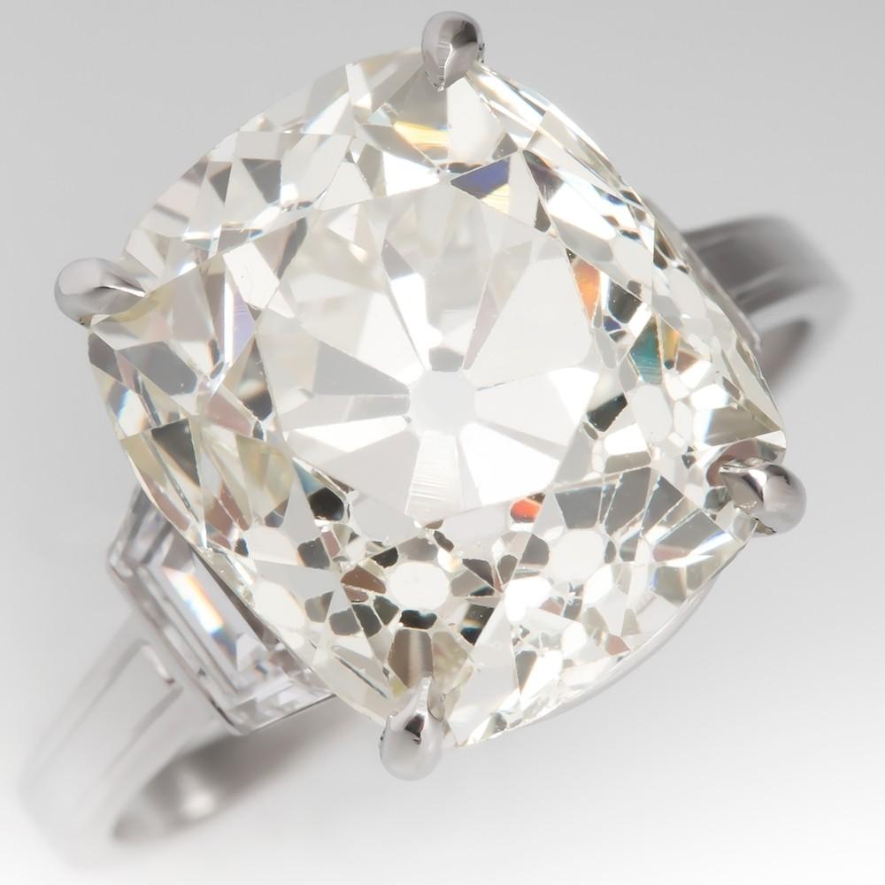 Old Mine Cut Diamond Ring 9 Carat