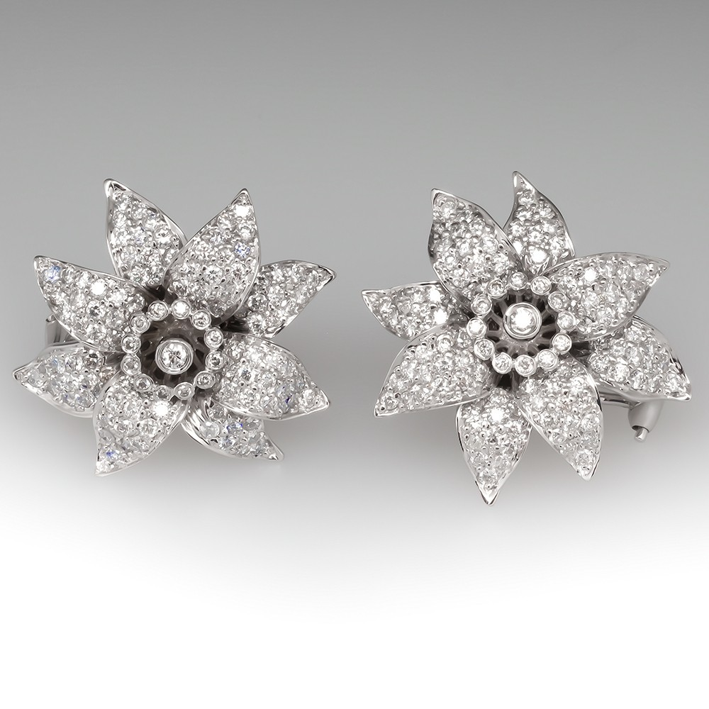 Sonia B Diamond Flower Earrings