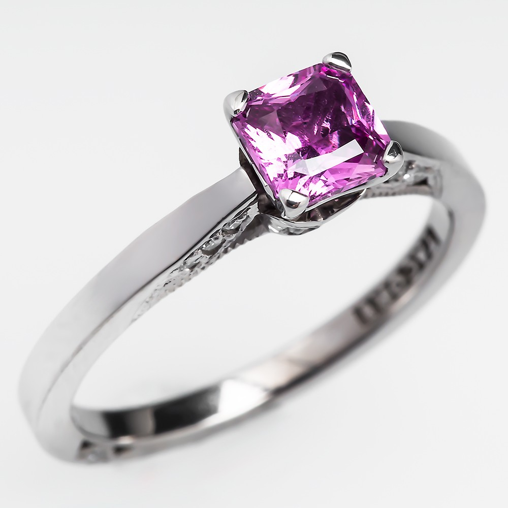 Pink Sapphire Diamond Ring Tiffany