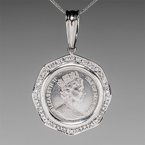 Platinum Coin Pendant