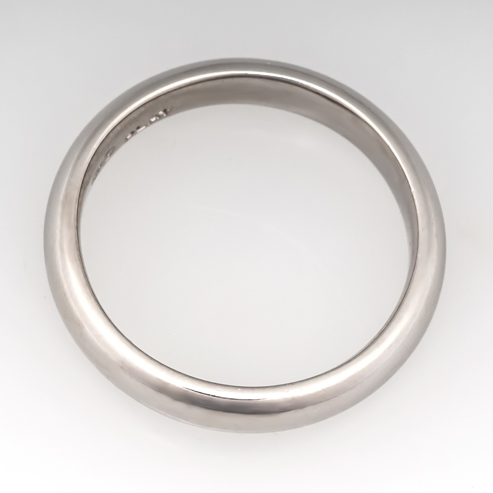 Mens Platinum 4mm Wedding Band Ring