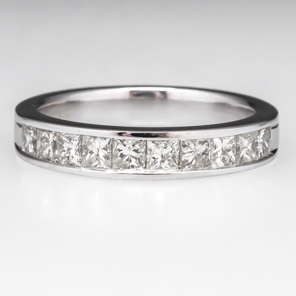 Princess Diamond Wedding Band Ring
